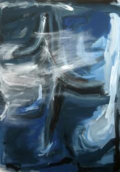 """Tanybwlch 4' mixed media on canvas, 45.5"""" x 63"""", 2009"""