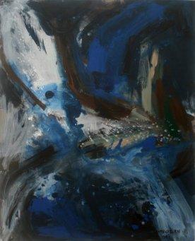 """Tanybwlch 1' mixed media on canvas, 50"""" x 65"""", 2009"""